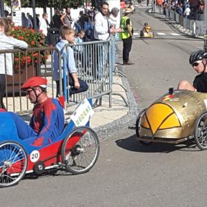 Spiderman  voiture Français et L'Aigle voiture Itamienne lors de la course de Valdahon comptant pour le Championnat d'Europe 2017 - F.F.C.V.P.