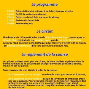 Déroulement de la dernière course du championnat 2018 à Delle (90) - F.F.C.V.P.