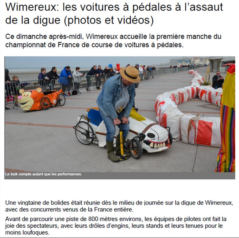 Article de presse de la course de Wimereux 2018 - F.F.C.V.P.