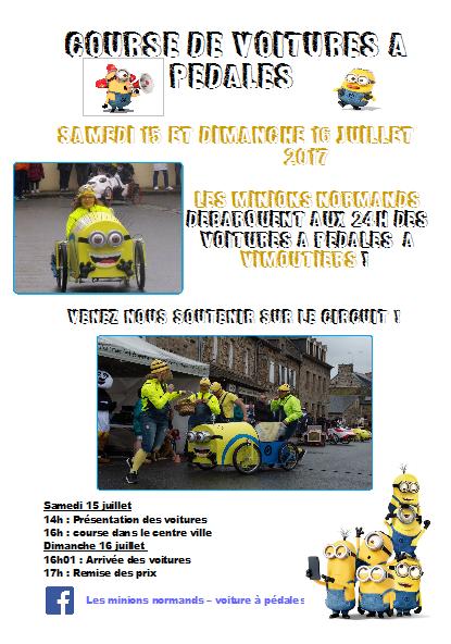 Affiche des 24 heures et 1 minute de Vimoutiers 2017 - F.F.C.V.P.