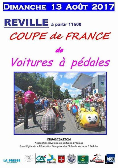 affiche course de Réville 2017 - F.F.C.V.P.
