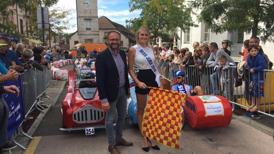 Départ de la course de Champagnole 2018 donnée par Miss Jura