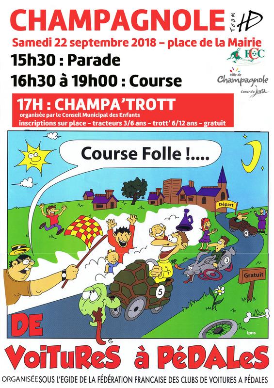 Affiche course de Champagnole 2018 - F.F.C.V.P.
