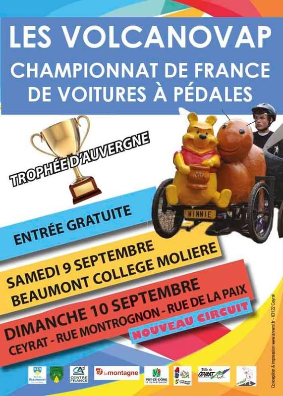Affiche publicitaire de la course de Beaumont 2018 - F.F.C.V.P.