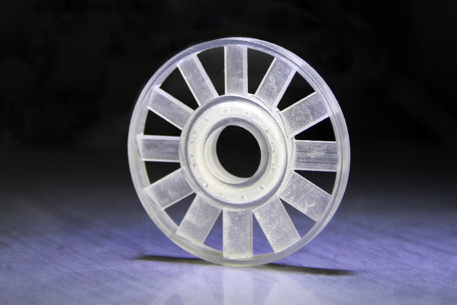 Roulement à bille fonctionnel imprimée en visijet crystal