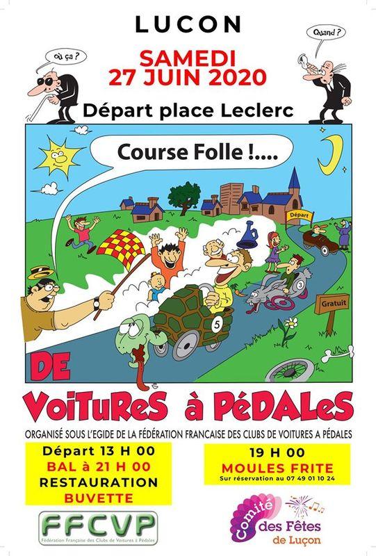affiche de la course de Luçon 2020 - F.F.C.V.P.