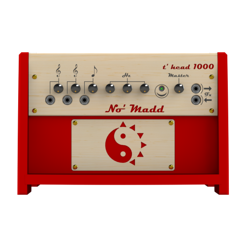 Solar guitar and bass head T' HEAD 1000 red - No' Madd