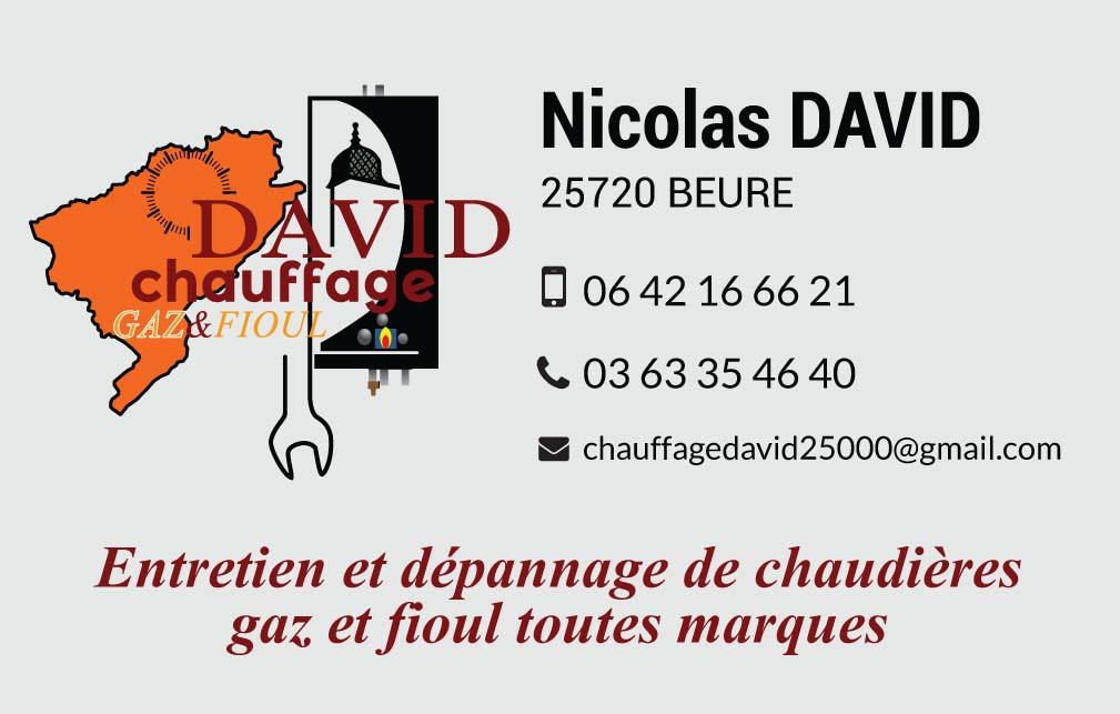 logo de Chauffage David  commerce à Beure