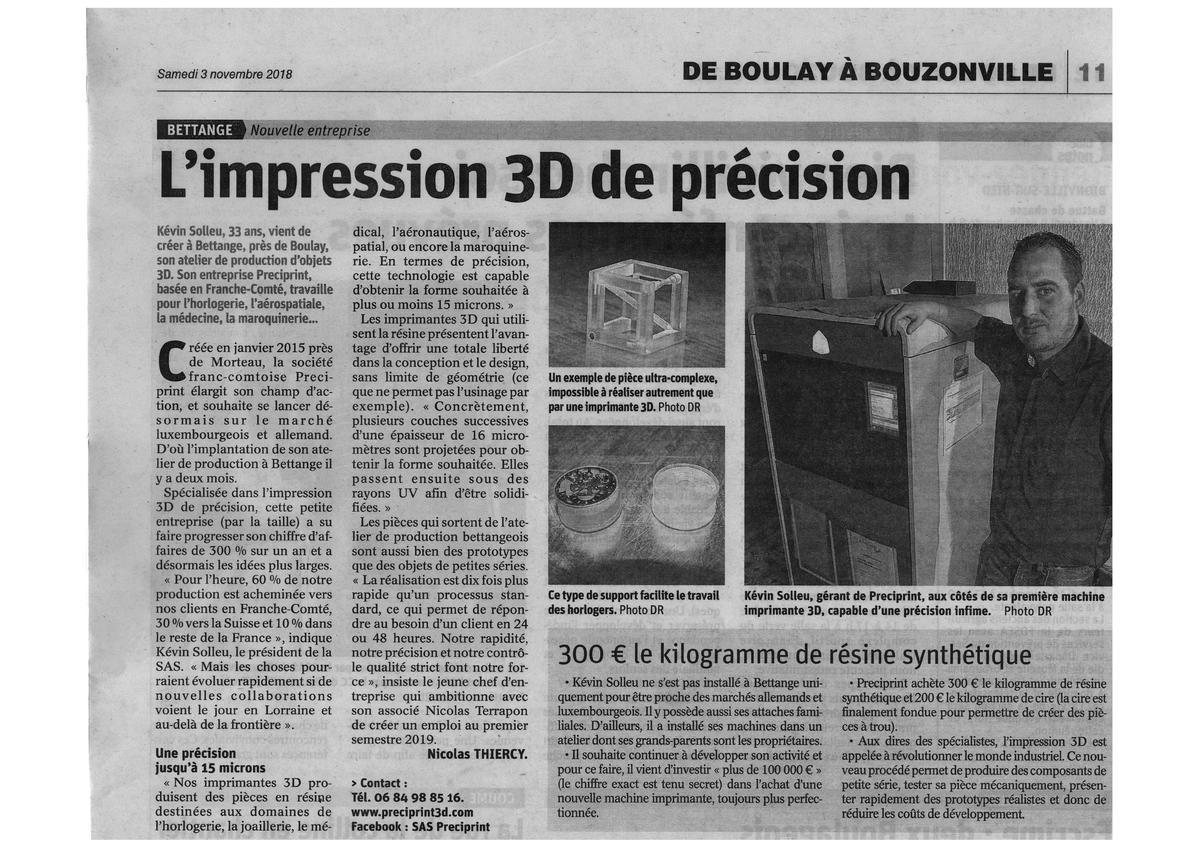 PRECIPRINT 3D Republicain Lorrain