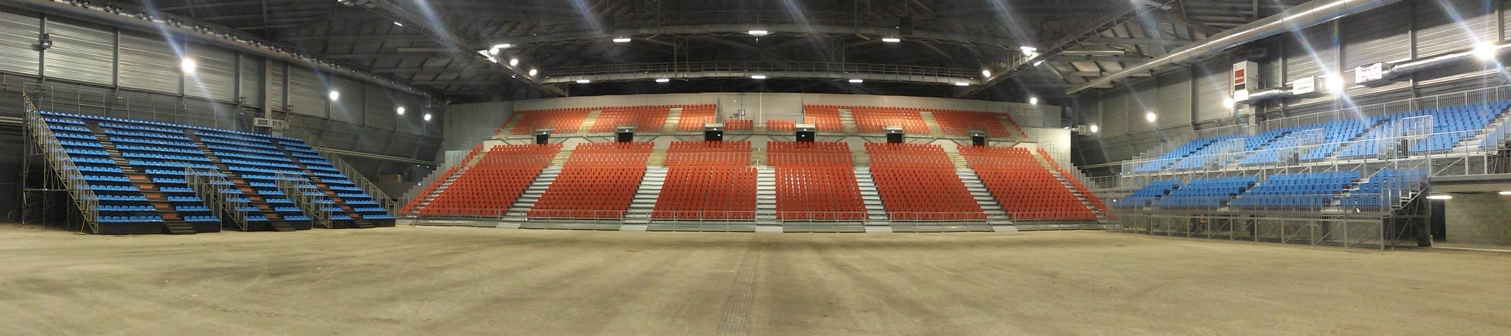 Tribune démontable à La Halle Olympique d'Albertville