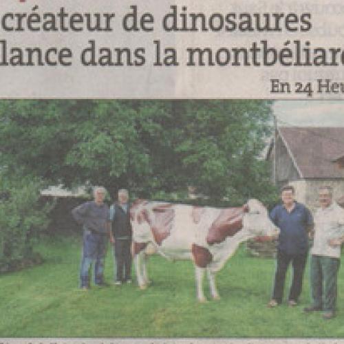 Article Est-Républicain : La Montbéliard après les dinosaures