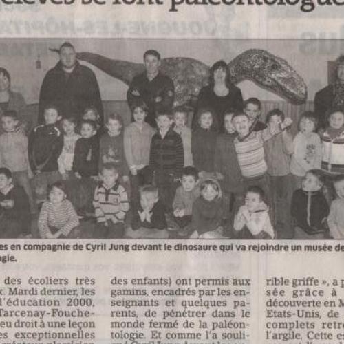 Article Est-Républicain : Les élèves se font paléontologues