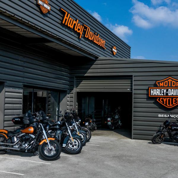 Concession - extérieur - Harley-Davidson Besançon