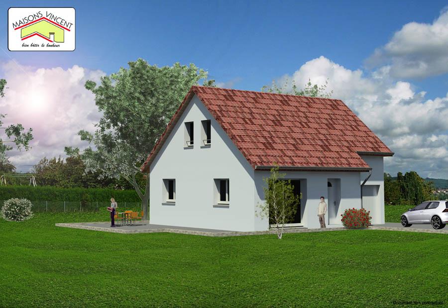 Modèle Réf. 1E : 100 00 euros ou modèle Réf. 1F  : 116 400 euros - Maisons Vincent