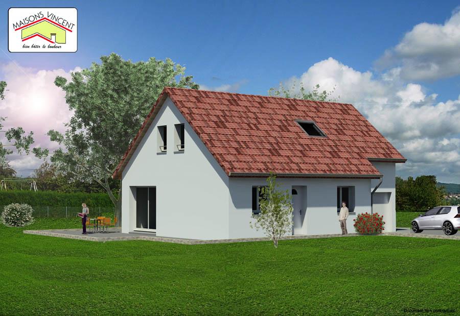 Modèle Réf. 2E : 109 600 euros ou modèle Réf. 2F : 122 300 euros - Maisons Vincent