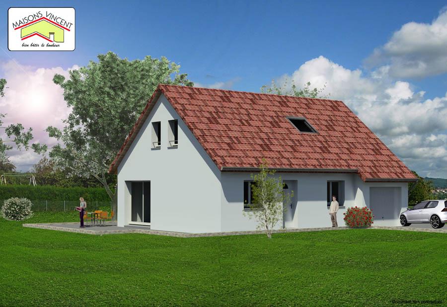 Modèle Réf. 2E spécial : 110 800 euros ou modèle Réf. 2F spécial : 123 400 euros - Maisons Vincent