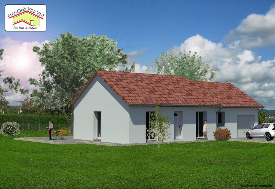 Modèle Réf. 4D : 116 800 euros - Maisons Vincent