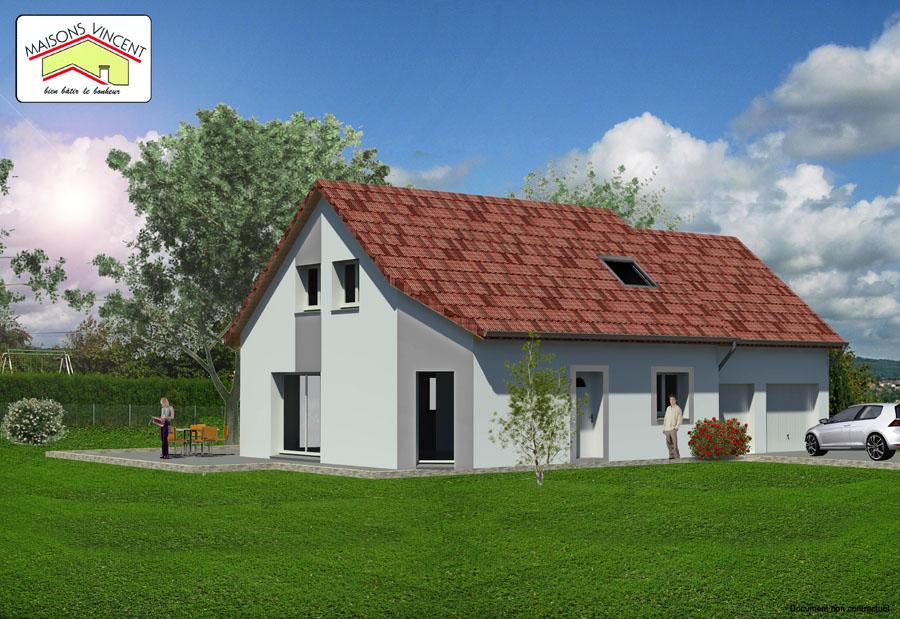 Modèle Réf. 7E : 122 400 euros ou modèle Réf. 7F variante : 138 000 euros - Maisons Vincent