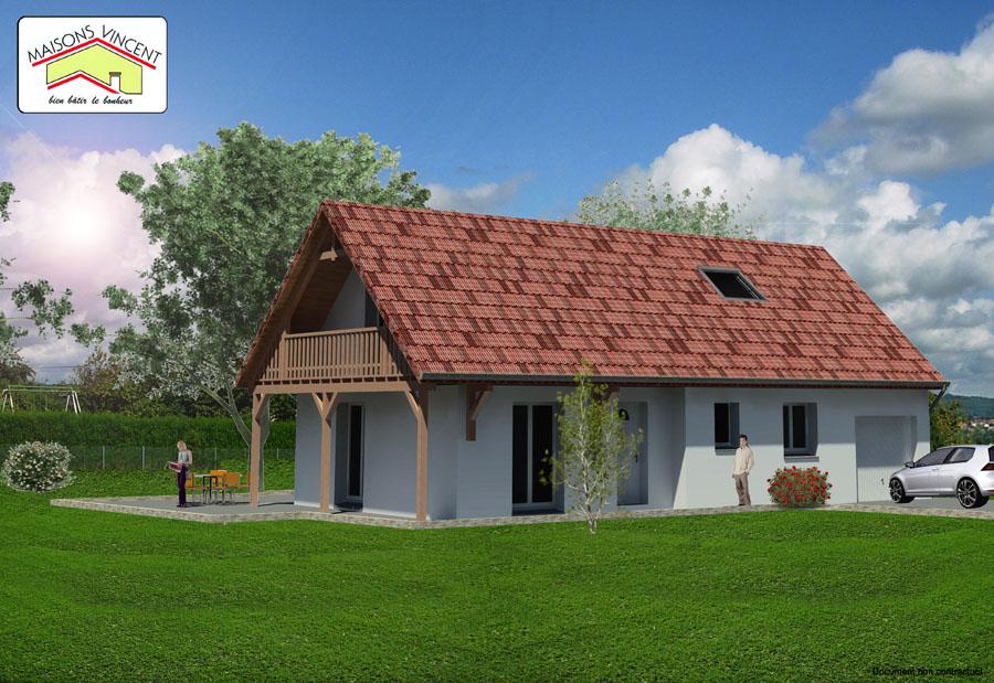 Modèle Réf. 8E : 122 700 euros ou modèle Réf. 8F : 134 000 euros - Maisons Vincent