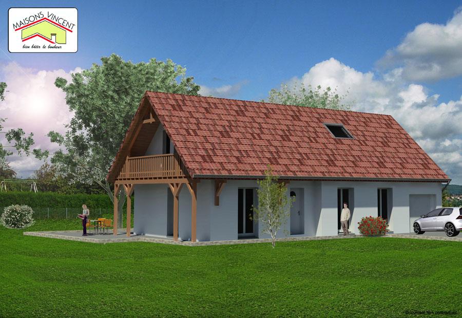 Modèle Réf. 9E : 131 600 euros ou modèle Réf. 9F variante : 148 400 euros - Maisons Vincent