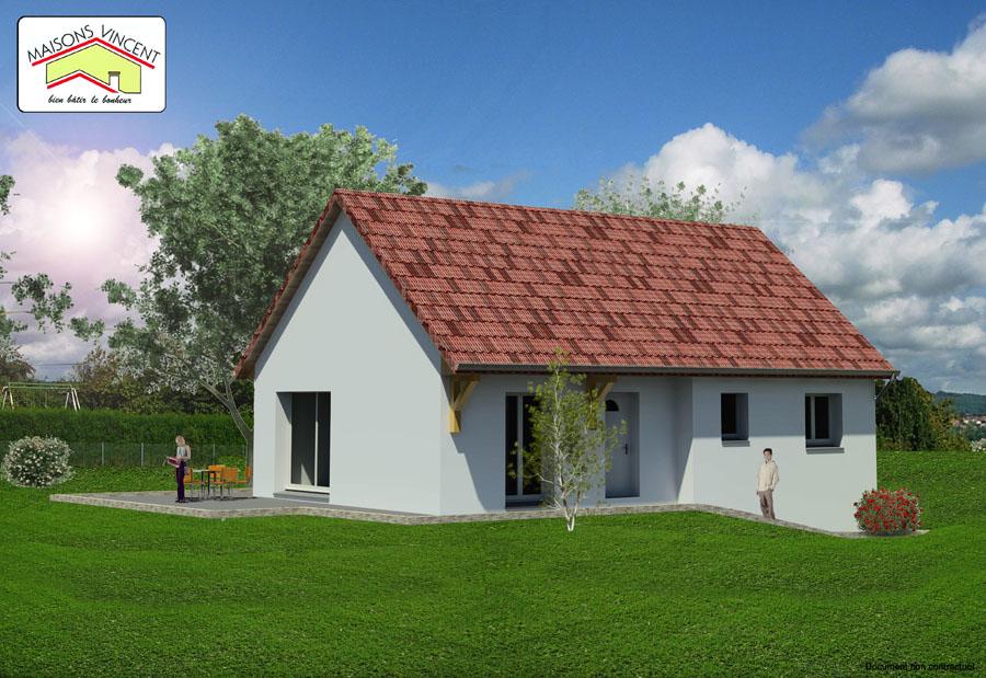 Modèle Réf. 21D : 121 700 euros ou modèle Réf. 21E : 125 800 euros ou modèle Réf. 21F : 138 600 euros - Maisons Vincent