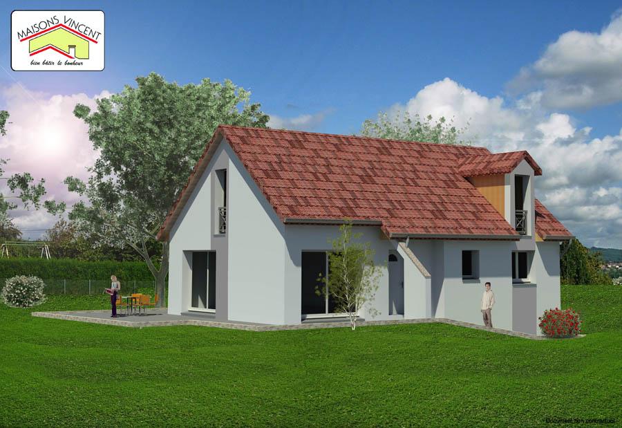 Modèle Réf. 25E : 132 300 euros ou modèle Réf. 25F : 144 400 euros - Maisons Vincent
