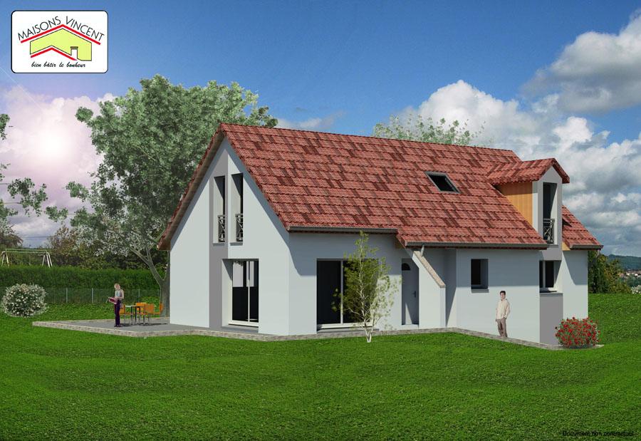 Modèle Réf. 26E : 143 800 euros ou modèle Réf. 26F variante : 160 300 euros - Maisons Vincent