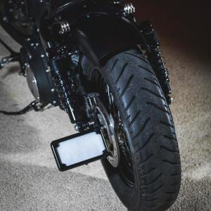 Support de plaque déporté noir XL light - Harley-Davidson Besançon