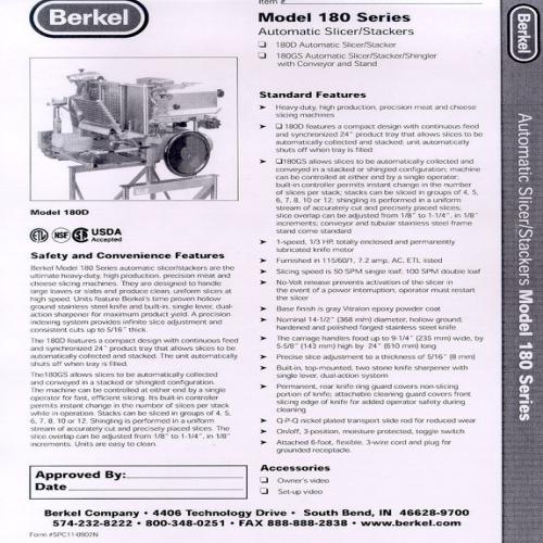 trancheuse BERKEL / Slicer BERKEL