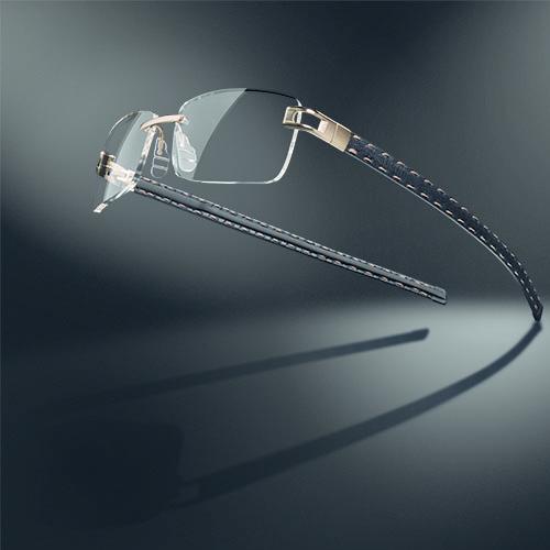 Branche lunettes cousu main fil d'or - Corium Developpement