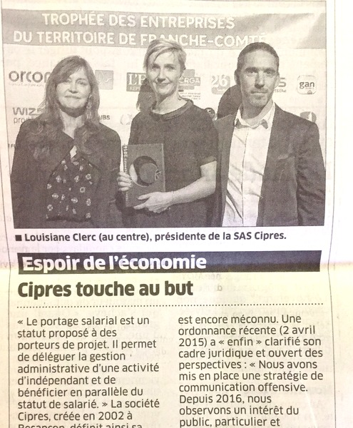 Cipres vainqueur du Trophée des Entreprises Franche-Comté - Cipres