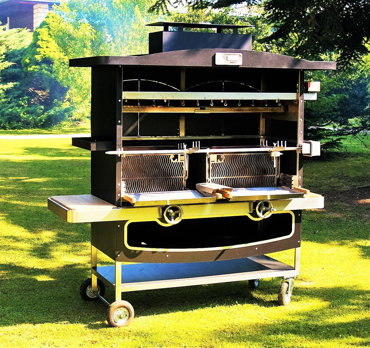 Barbecue haut de gamme tournebroche rhino grill