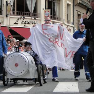 Benoît et son équipe sur le Train à Vapeur - F.F.C.V.P.