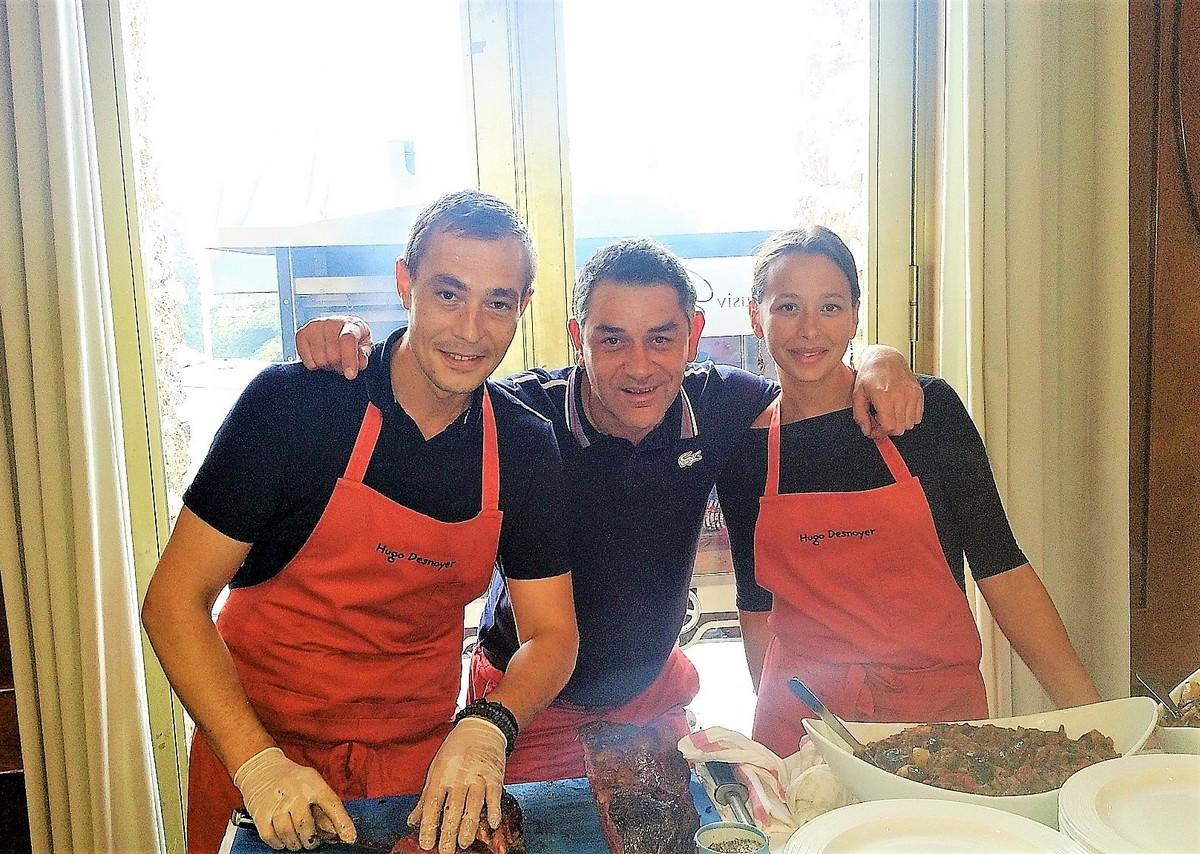 Hugo Desnoyer, Yann Rouvière et Elise Poulain sur Rhino Grill bi broche