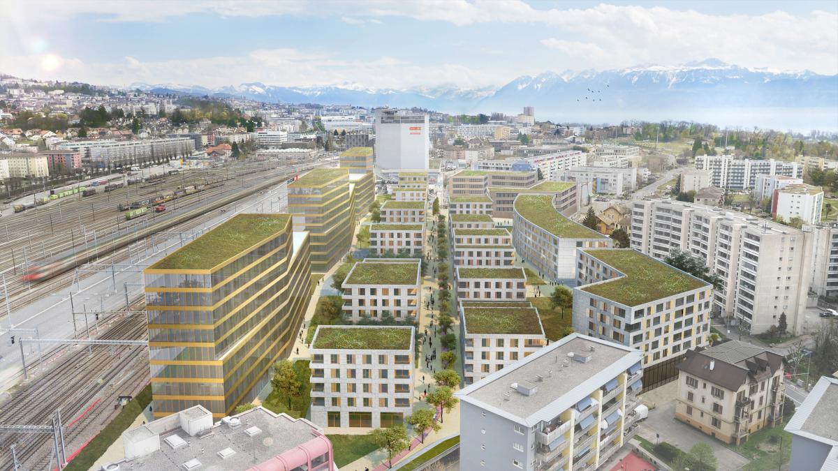 Parc du Simplon - Logements, surfaces administratives, commerces et services - Ivéo CONSEILS