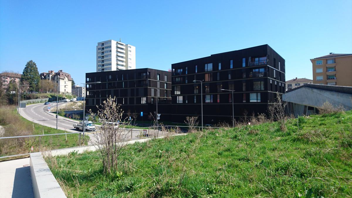 La Sallaz à Lausanne - 29 logements + crèche + bibliothèque + parking public - Ivéo CONSEILS