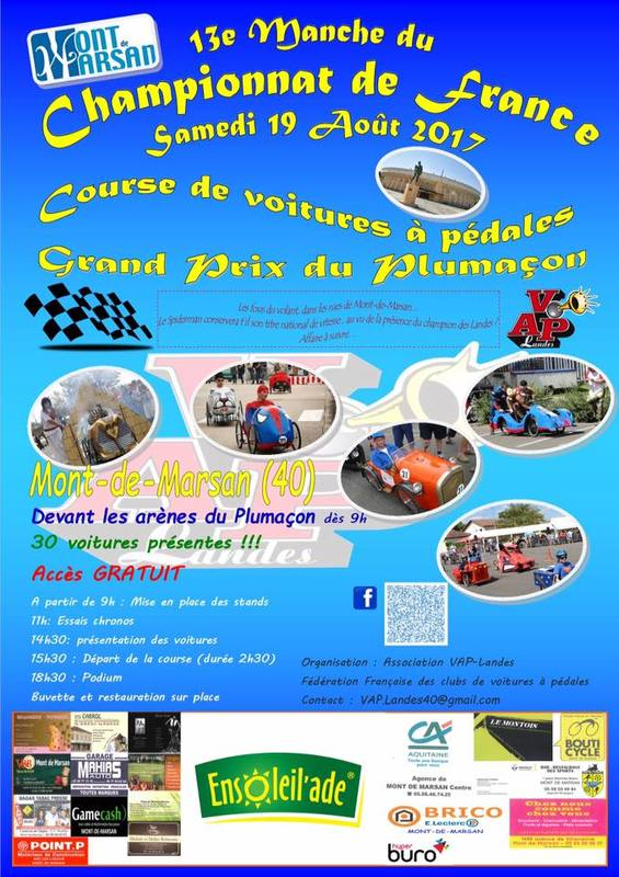 Grand Prix du Plumaçon 2017 à Mont de Marsan - F.F.C.V.P.