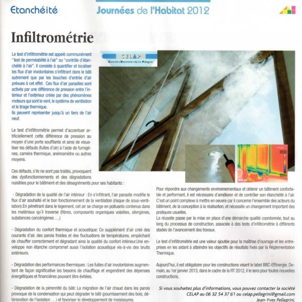 Infiltrométrie -